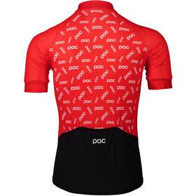 POC Essential Road Maillot avec logo Homme, polka poc prismane red
